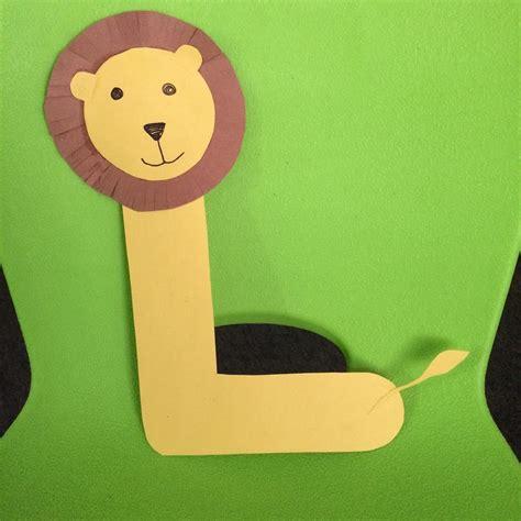 letter  craft lion craft preschool