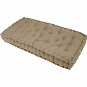 Coussin Exterieur Pas Cher : matelas de sol beige 120x60x15 cm achat vente coussin ~ Premium-room.com Idées de Décoration