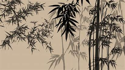 Bamboo Chinese Japanese Desktop Wallpapers Designs Shadows