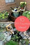 10 Inventive Designs for a DIY Garden Fountain | DIY diy garden fountain