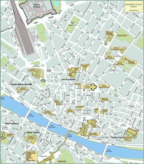 florence tourist map florence italy mappery