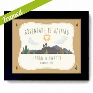 Outdoorsy couple wedding gift nature lovers couples gift for Wedding gift for outdoorsy couple