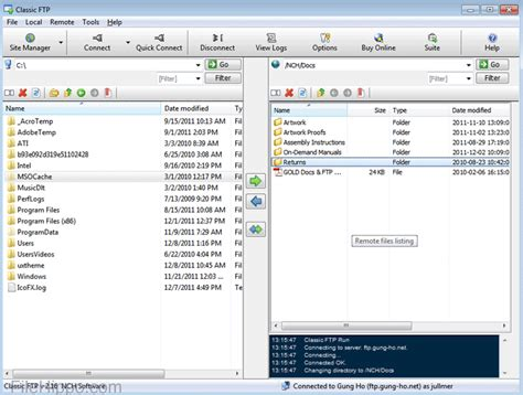 Download Classic Ftp Free File Transfer Client 2.38