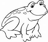 Frog Coloring Pages Theme sketch template