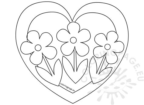Coloring Pages Flowers Hearts