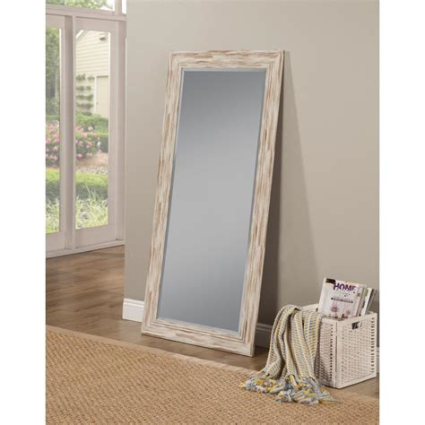 floor mirror dimensions sandberg furniture farmhouse antique white wash leaner