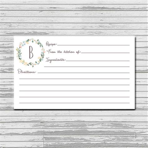 images   typable recipe card template leseriailcom