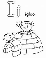 Coloring Igloo Pages Alphabet Letter Worksheet Printable Activities Preschool Pokemon Letters Abc sketch template