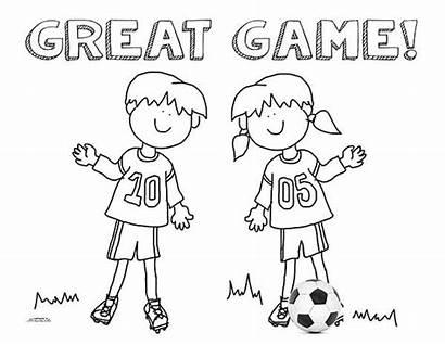 Soccer Coloring Sheet Team Printable Snack Ultimate