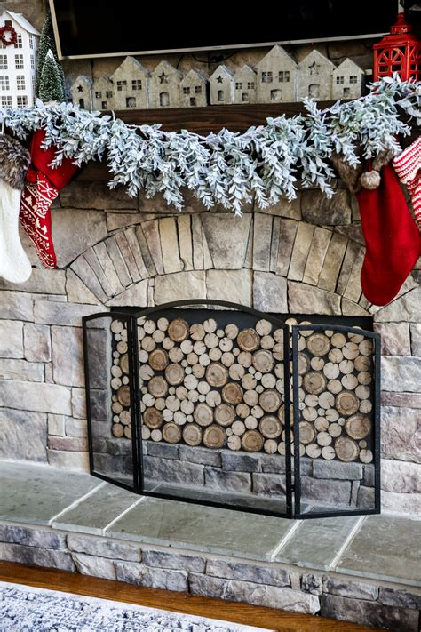 faux stacked wood fireplace insert diy bower power