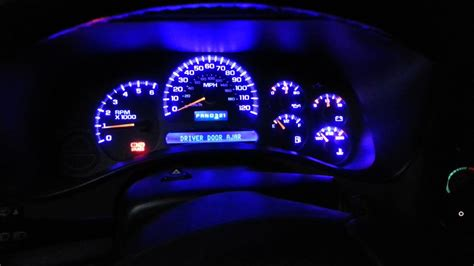 chevy  instrument cluster blue led youtube