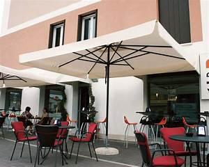 Parasol De Terrasse : parasol alu gris rond 3x3m 3x4m pour terrasse jardin piscine ~ Teatrodelosmanantiales.com Idées de Décoration