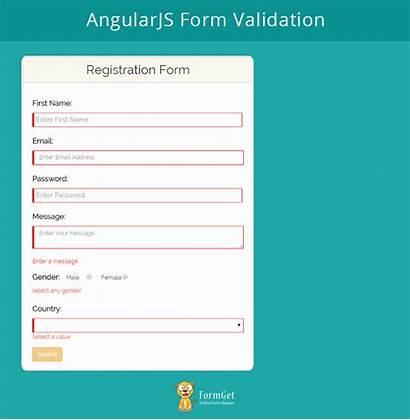 Form Validation Angularjs Code Formget Demo Given