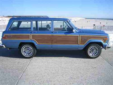 jeep wagoneer blue purchase used 1991 jeep grand wagoneer final edition