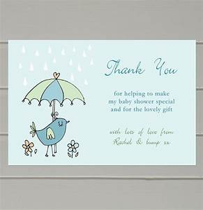Baby shower thank you notes sample letter wording for Thank you letter for baby shower