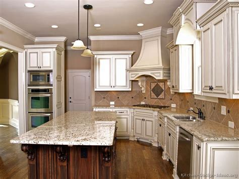 antique white kitchen island kitchens cabinets design ideas and pictures