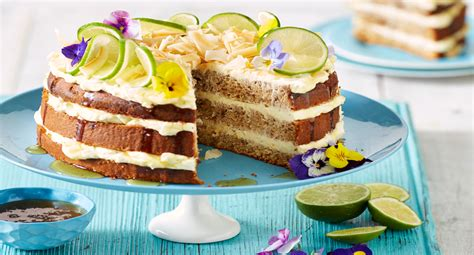 better homes and gardens banana cake recipe banana cake with zesty lime cream cheese frosting better homes and gardens