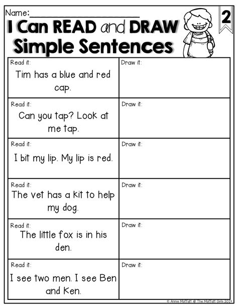 READ and DRAW simple sentences! What a GREAT way to check
