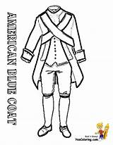 Coloring Pages Revolutionary War Coat Drawing British Uniform Soldiers Soldier Revolution American Redcoat Military Printable 4th July Draw Drawings Usa sketch template