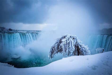 niagara falls ice waterfall wallpaper