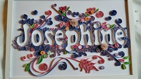 quilling name quilling typography quilled letters youtube