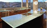 glass counter tops 6 Unexpected kitchen countertop trends for 2014
