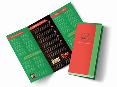 Menu Pizza Brochure Restaurant Template Templates Brochures