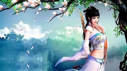 Princess Asian Wallpapers Fantasy Warrior Oriental Female