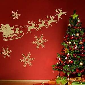 10 Christmas Decorating Ideas With Wall Stickers Shelterness