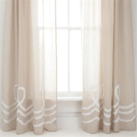 ruched linen platinum white window panel pine cone hill