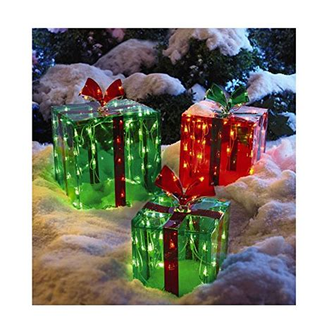 3 lighted gift boxes christmas decoration yard decor 150