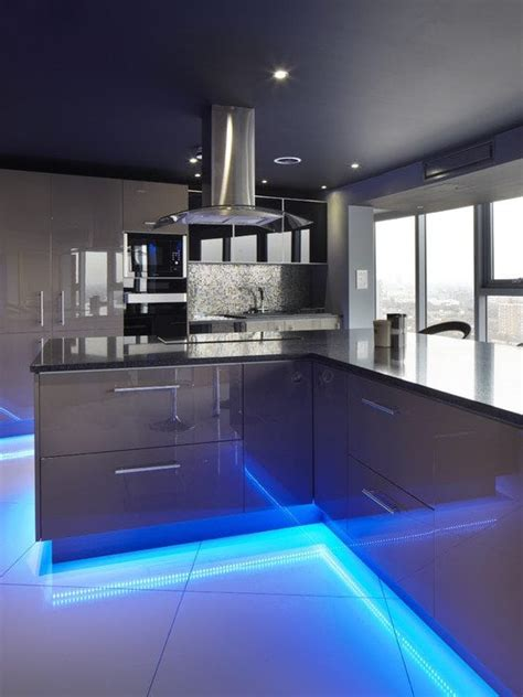 contemporary kitchen lighting how to apply the led trends to your home 2502