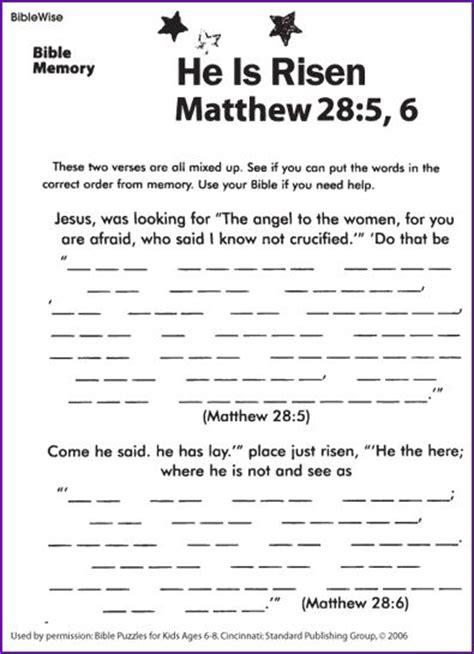 jesus  risen kids korner biblewise sunday school