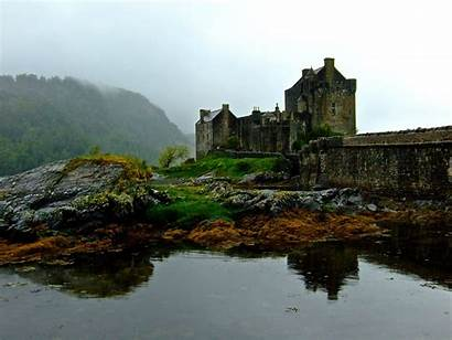 Scotland Castle Fog Donan Desktop Szkocja Don