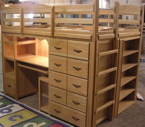 queen bed with desk queen loft bed with desk and drawers organize me