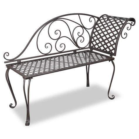 chaise métal vidaxl co uk vidaxl metal garden chaise lounge antique