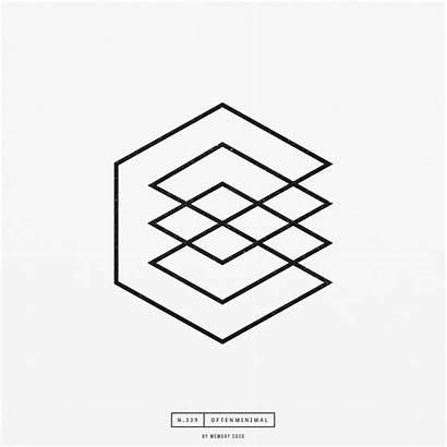Geometric Minimal Inspiration Illusion Designs Graphic