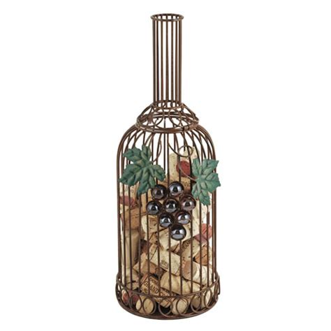 Wine Bottle Cork Holder Wall Decor by Grapevine Wine Bottle Cork Collector Cage Twine By True