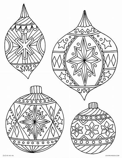 Coloring Pages Christmas Ornament Ornaments Printable Adult