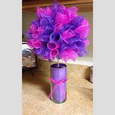 Pink And Purple Deco Mesh Topiary  Parties & Events