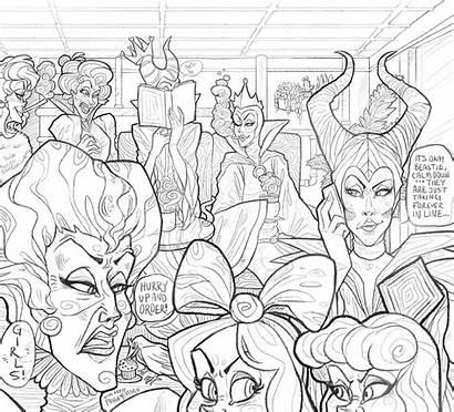 Coloring Disney Villain Deviantart Evil Queen Cafe
