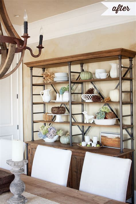How To Decorate Shelves For Fall (or Anytime, Really