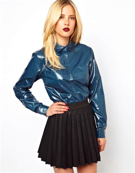 looking blouse asos shirt in look in black lyst