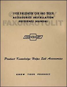 1958 Chevy Radio  U0026 Autronic Eye Manual Original