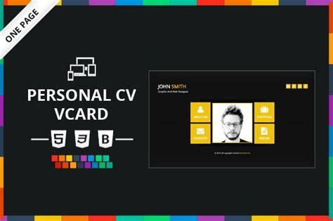vcard template free personal cv vcard html template website templates