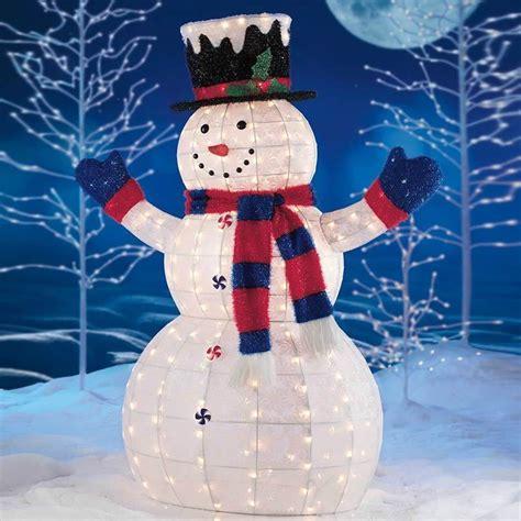 snowman outdoor lights  ways    christmas