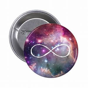 Infinity loop and galaxy space hipster background | Zazzle