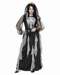 Halloween Skelett Kostüm : skelett braut damenkost m plus size xl bergr en ~ Lizthompson.info Haus und Dekorationen