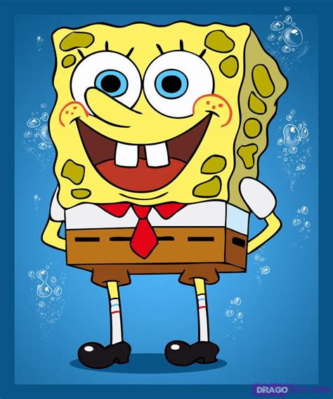 How To Draw Spongebob, Step By Step, Nickelodeon