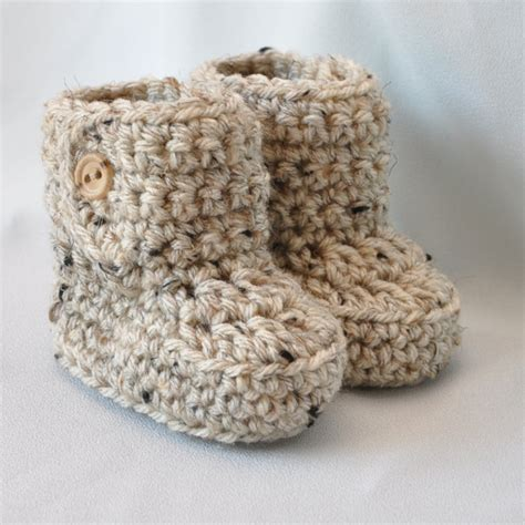 baby booties crochet baby boots  button top size